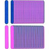 200 Packung Einweg Nagelfeilen Doppelseitige Nagel Pufferung Dateien Emery Boards Maniküre Pediküre Werkzeug Set, Blau und Rosa