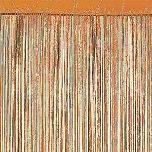 Rideau à fils Orange