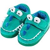 Zapatillas de Felpa Dinosaurio de Dibujos Animados para niños y niñas Invierno Otoño Casa cálida Zapatos Interiores para niño