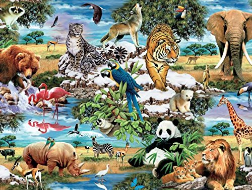 1500 Piece Assortment - Worlds Wildlife