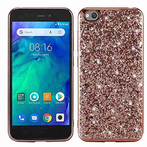 Yoota Funda Xiaomi Redmi Go, Funda Brillante Bling Sparkle Glitter Carcasa Choque Absorción Caso para Xiaomi Redmi Go - Oro Rosa