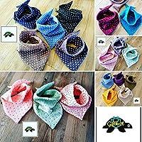 Halstuch Farb/Musterwahl Musselintuch Dreieckstuch Schal Baby/Kleinkind Kinderhalstuch Spucktuch verschiedene Farben und Muster aus Musselin
