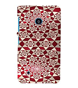 PrintVisa Red Diamond Pattern 3D Hard Polycarbonate Designer Back Case Cover for Nokia Lumia 530