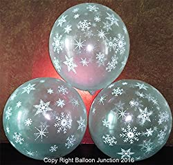 Printed transparent (crystal) balloons for theme party decoration (Snowflake)