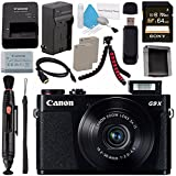 Canon PowerShot G9 X Digital Camera (Black) 0511C001 + NB-13L Lithium Ion Battery + External Rapid Charger + Sony 64GB SDXC Card + Memory Card Wallet + Card Reader + Micro HDMI Cable + Tripod Bundle