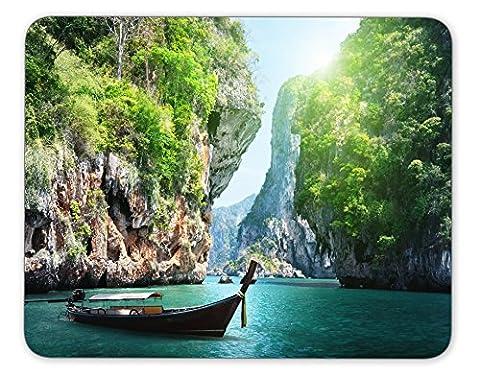 Long Boat et Rocks on Railay en Krabi anti-dérapant Pad Tapis de souris Tapis de souris pour ordinateur portable Tapis de souris gaming mouse pad Tapis de souris de bureau