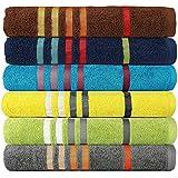 Casa Copenhagen Exotic 475 GSM Cotton 6 Pcs Spa Towel Set - Multi Colour