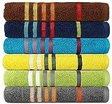 #10: Casa Copenhagen Exotic 475 GSM Cotton 6 Pcs Spa Towel Set - Multi Colour
