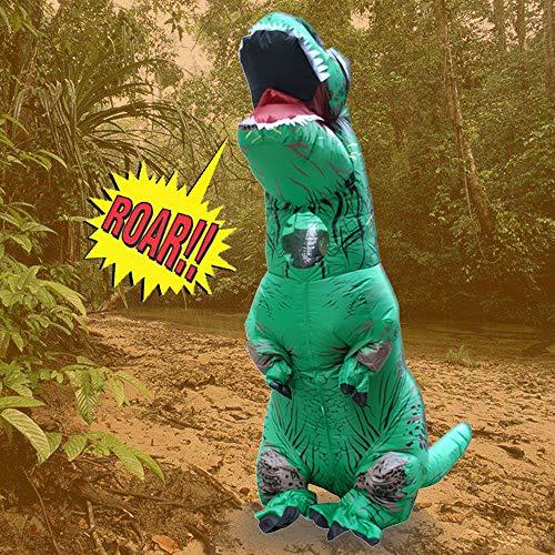(TAOtTAO Inflatable Dolls Erwachsene aufblasbare T-Rex Trex Dinosaurier Explosion Phantasie Kostüm Anzug Party Party Spielzeug (Grün))