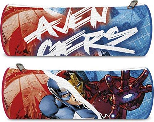 Disney- Avengers Portatodo Redondo 23×8, Color Azul y Rojo, 22 cm (Kids EUROSWAN AV17559)