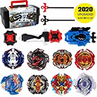 infinitoo Beyblade, Battle Burst, Combat Spinning Top Burst | 8 pcs speed gyro metal combat spinning top set 4D Fusion Model Burst Evolution Combination Series with 3 Launcher Toys for Children