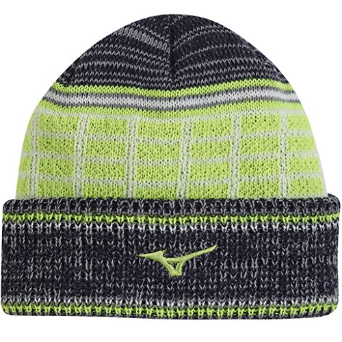 Mizuno Golf 2017 Mens Breath Thermo Beanie Sports Winter Golf Hat Deep Navy One Size
