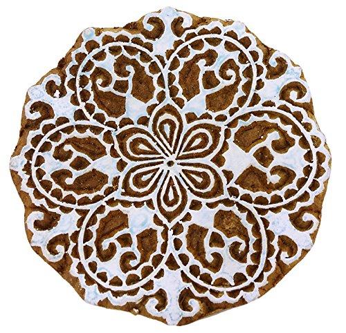 Indian Holzblumenmuster Dekorative Hand Geschnitzte Druck Border Stamp Block -