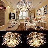 AnntTM 2Packs Modern Silver Chrome Crystal Chandelier Light Ceiling Pendant Lamp Lighting Light Bedroom Living Room Dining room,Bulb not Included