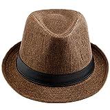 KYEYGWO - Sombrero de Vestir - para Hombre Marrón marrón Taille Unique