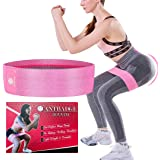 Antbadge Anti-Slip Fabric Resistance Loop Bands for Women & Men. Stretchable Exercise Mini Band to Workout Booty Hips Glutes