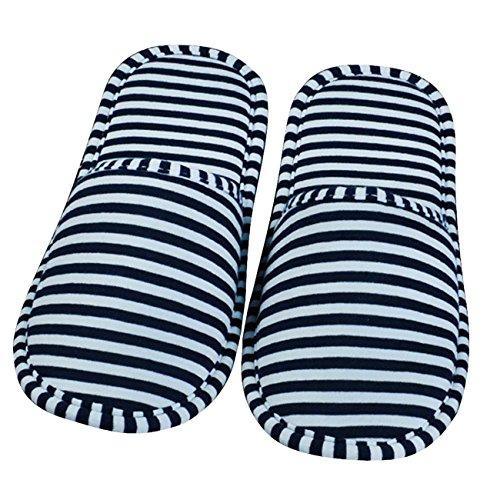 Thee pantofole pieghevoli portatili da viaggio hombre blu