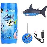 Mini RC Haifisch Spielzeug Badewannenspielzeug für Kinder mit Fernbedienung und USB Kabel
