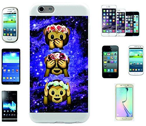 """Smartphone Case Apple IPhone 7+ Plus """"Drei Affen im Weltraum Nichts Sagen Sehen Hören und Rosen"""", der wohl schönste Smartphone Schutz aller Zeiten."""