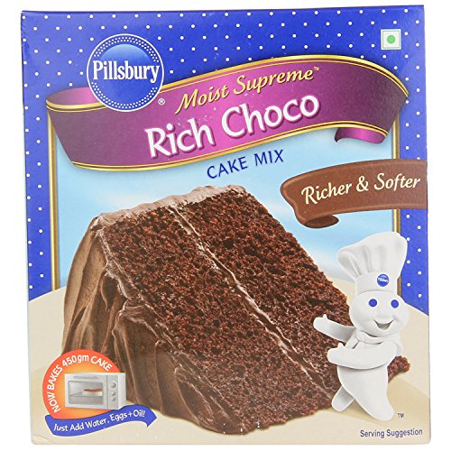 Pillsbury Moist Supreme Flavoured Cake Mix, Rich Chocolate, 285g