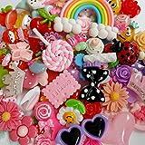 Botones traseros de resina planos Chenkou Craft, Pascua de bricolaje, lote de 50 piezas surtidas y mixtas