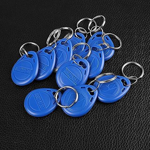 Cewaal Key fobs 10PCS RFID ID Access Control Key Token Ring Tag Keyfobs 125KHz/13.56MHz for Door Entry