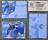 Einladungen Set fans of earth BRUNNEN 8 Karten 8 Umschläge TOP Preis orca