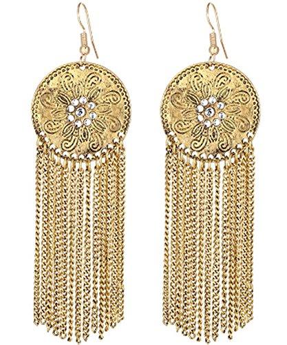 saysure-gold-color-long-tessal-punk-crystal-stud-earrings-set