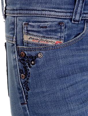 Diesel Soozy 8wv Staight To Bootcut Blue Woman Jeans Women