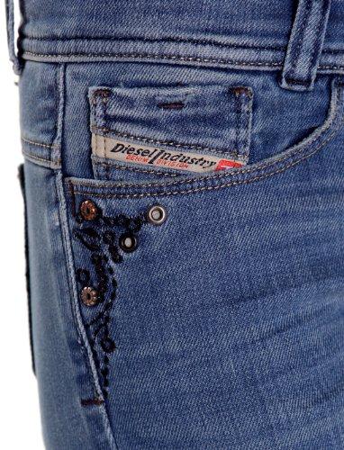 Diesel Soozy 8WV dritto a Bootcut Blu Donna Jeans donna Blue 25W x 32L