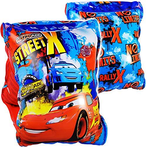 alles-meine.de GmbH 2* 2 TLG. Set _ Schwimmflügel / Schwimmärmel - aufblasbar -  Disney Cars - Auto  - 2 bis 6 Jahre - jeweils 2 Luftkammern ! - Schwimmhilfe - für Jungen - Kin..