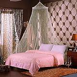 FomCcu Weiß Moskito Netz Spitze Elegante Runde Bett Überdachung Netting Vorhang Moskitonetz 60 mm X 280mm X 850mm