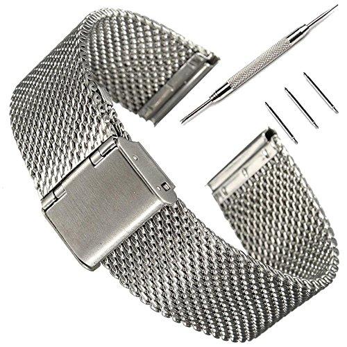 16mm-cinturino-pinhen-acciaio-inossidabile-bracciale-watch-band-strap-estremita-diritta-solidi-legam