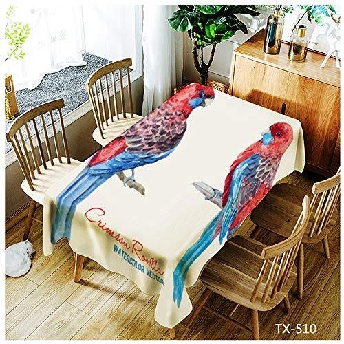 QWEASDZX Mantel Poliéster Simple y Moderno Impresión Digital Mantel Decorativo Protección del Medio Ambiente Antifouling a Prueba de Aceite Mantel Rectangular Reutilizable 140x180cm