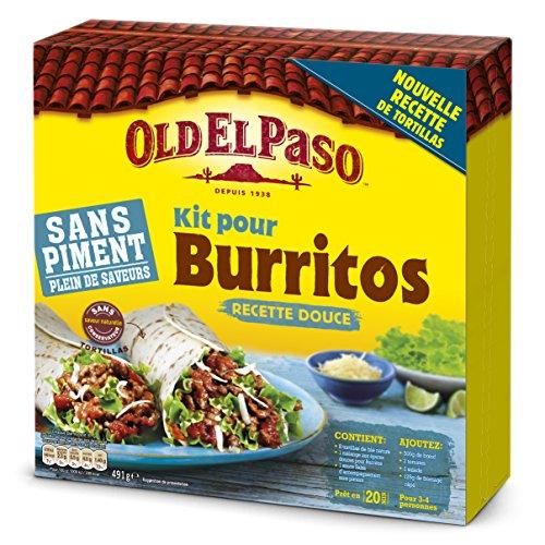 Old el paso Kit Burrito sans Piment 491 g