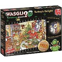 Wasgij 19148 Christmas 13 Turkey's Delight Jigsaw Puzzle (2 x 1000-Piece)