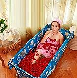 LTM Bathtub Erwachsener faltendes Bad-Fass-Versammlungs-Art einfaches Bad-lange Dampf-Sauna, die dauerhafte Isolierung verdickt