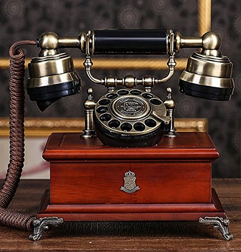 FACAI666 Holz Metall Vintage Radio antike Radio kontinentales Büro Festnetz Festnetz Telefon , #1 (Antike Radios)