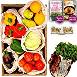 Gemüsebeutel Wiederverwendbare 100% Bio-Baumwolle &
