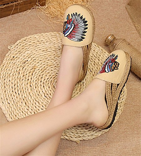 HOMEE Ladies Slippers National Wind Souliers simples 36 Eu