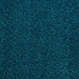 Handmuster zu Teppichfliesen selbstliegend Velours Schatex Simply Soft 2745 Petrol (20 Fliesen = 5 m²), Farbe: Türkis, Größe: 50 x 50 cm
