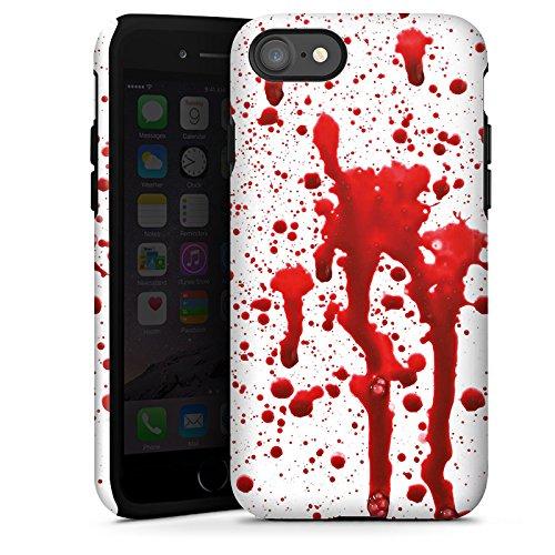 Apple iPhone X Silikon Hülle Case Schutzhülle Blut Halloween Gothic Tough Case glänzend
