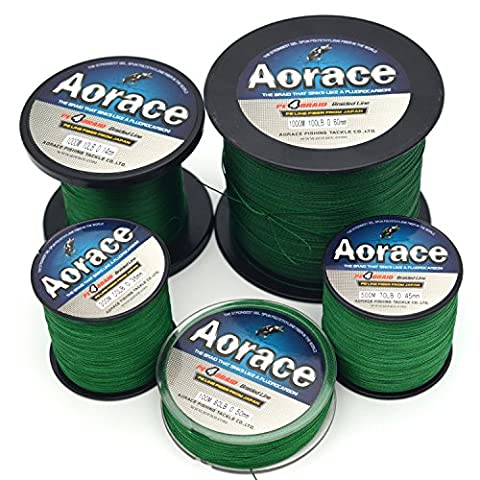 Aorace Braid Fishing Line 50LB Strong and Abrasion Resistant 300M Fiber Material Fishing Line Dark Green Advanced