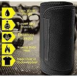 Kraxta New Premium Waist Trimmer Fat Burner Belly Tummy Yoga Wrap Black Exercise Body Slim Look Belt Free Size
