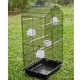 Anaelle Pandamoto Cage d'oiseaux en Fer & Plastique avec 1 Porte Grande, Taille: 47.5 x 36 x 93cm, Poids: 6kg...