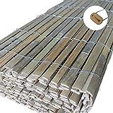 Bambus Sichtschutz Windschutz Bambus versandkostenfrei (D) (200cm x 5m) inkl. Befestigungsset