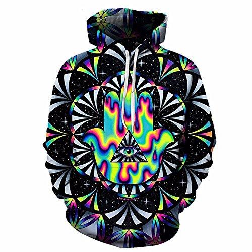 WYZN 3D-Hoodies bunte Hoodie Herbst Sweatshirts Unisex Pullover Neuheit Outerwear Jacken männlichen Trainingsanzug, M