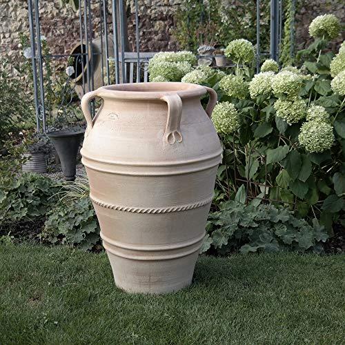 méditerranéenne Amphore avec anse, fait main en véritable pour l'extérieur Décoration de jardin plantes terracotta, 60–90 cm 70 cm