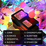 LE 10m 100 LED Festoon Lights, Plug in Multi Colored Globe String Lights, 8 Modes Water Resistant Fairy Lights for Party, Garden, Patio and More Bild 5