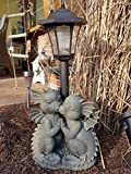 Süße, knutschende Drachen. Liebespaar. Mit Solar-Laterne. Gartenfigur, Figur, Gargoyle